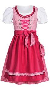Kinderdirndl 3-teilig Nuria in Pink von Nübler, Größe:104