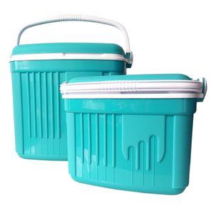 Kühlboxen Sets mit großer (32 Liter) und kleiner (8 Liter) Kühlbox: Türkis