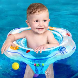 Kinder Baby Sommer aufblasbare Sicherheit PVC Bad Schwimmbad Schwimmring-(Blau)