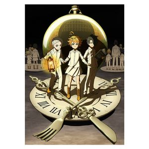 Anime The Promised Neverland Geburtstagsgeschenk Wall Home Decor Scroll Poster -H08