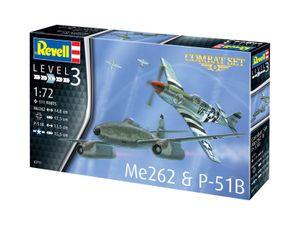 Revell 03711 1:72 Combat Set Messerschmitt Me262 & P-51B Mustang