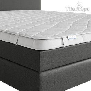 VitaliSpa Matratzenschoner 180x200 Topper Matratzen-Auflage weiß Boxpspringbett