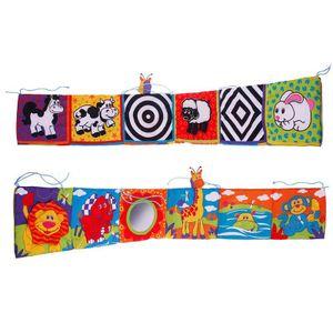 Kinderbettumfang, Stoffbuchbett hängen, visuelle Stimulation, pädagogisches Spielzeug für die Früherziehung