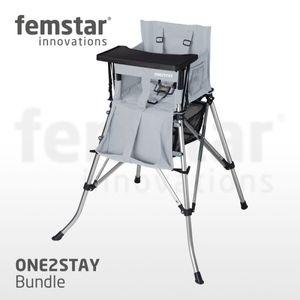 One2Stay High Chair Bundle H-DT Kinderhochstuhl mit Tisch verschiedene Farben Farbe: Silber