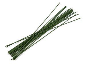 20 Blumenstiel-Drähte  2,5x400mm grün Blumenstieldraht Blumendraht Floristikdraht