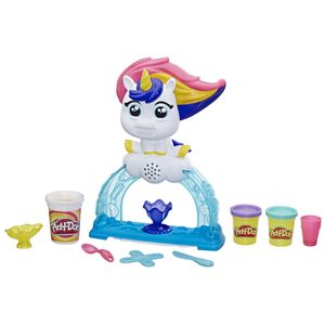 Hasbro Knete Play-Doh Buntes Einhorn Softeis-Set mit 3 Dosen Play-Doh, darunter eine Dose zweifarbige Strudelknete