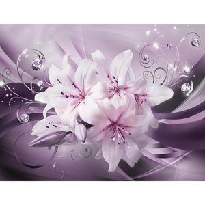 Blumen Lilien 9433b RUNA Blumen Lilien VLIES FOTOTAPETE XXL DEKORATION TAPETE− WANDDEKO 308 x 220 cm
