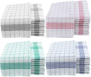 Geschirrtücher 50x70cm Küchentücher Geschirrtuch 10er bis 50er Pack Baumwolle, Farbe:Grün, Menge:10 Stück