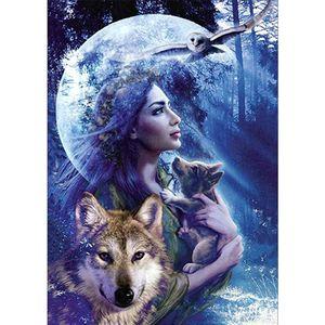 Wolf Diamant Painting Bilder DIY 5D Diamant Malerei Diamond Painting Kits für Zuhause Wanddekoration 30 x 40 cm