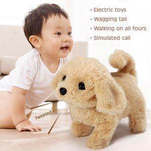 Realistische Labrador Simulation Hund Smart Called Walking Elektro Plüschtier Labrador Roboter Hund Kind Spielzeug Welpe Plüschtiere