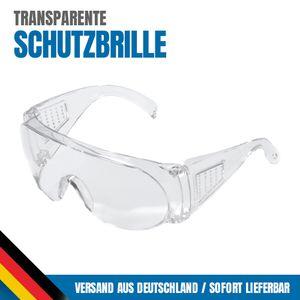 1x Transparente Schutzbrille, Gesichtsschutz, Brillenträgergeeignet, Arbeit, Spritzschutz
