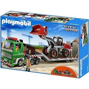 PLAYMOBIL 5026 City Action Tieflader mit Radlader Baustelle Spielset Zubehör 5026