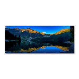 Tulup® Leinwandbild - 125x50 cm - Wandkunst - Drucke auf Leinwand - Leinwanddruck  - Landschaften - Blau - Tatry