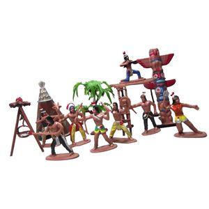 Handgemalt Indianer Menschen Modell Figuren Maßstab Ho Spielzeug Set