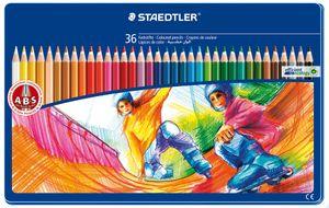 STAEDTLER Buntstift 36er Metalletui mit Sportmotiv