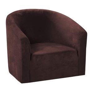 Sofabezug 1 Sitzer Sesselbezug Sesselschoner Sesselhusse Sesselschutz Kaffee Einfach Schonbezug 67-73 cm Einfach gefärbt