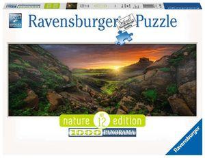 1000 Teile Ravensburger Puzzle Panorama Nature Edition Sonne über Island 15094