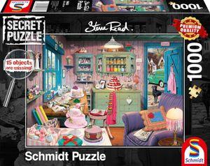 Schmidt Spiele 59653 - Puzzle Secret 1.000 Teile - Großmutters Stube