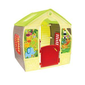 Mochtoys 11976 Spielhaus 102 x 88 x 108 cm, Fenster, Tür, indoor, outdoor gelb
