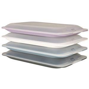 4er Set hochwertige Aufschnitt-Boxen Wurstbox Wurstdose platzsparend stapelbare Stapelboxen Pastell Vorratsdosen integrierte Servierplatte Frischhaltedose (4er Set)…