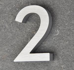 Hausnummer Haustürnummer Aluminium Scala Nr. 2