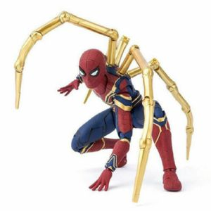 17cm PVC  Spiderman mit Goldene Pfote Action Figuren Spielzeug Modell