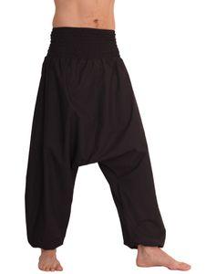 Leucht-Welten Herren Haremshose, Aladinhose mit mitteltiefem Schritt aus Baumwolle, Einheitsgröße