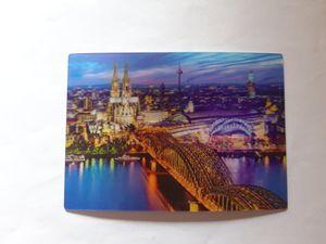 3 D Ansichtskarte Köln, Postkarte Wackelkarte Hologrammkarte, Kölner Dom, Skyline
