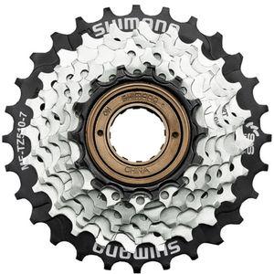 Shimano MF-TZ510 Fahrrad Kassette 7-fach Schraubkranz Zahnkränze Fahrrad Ritzel Shimano 14 - 28/34 Zähne, Zähne:14 - 28 Zähne, Ausführung:ohne Speichenschutzring