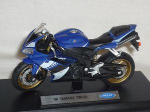 Yamaha Yzf-r1 Yzf R 1 R1 Blau 2008 1/18 Welly Modellmotorrad Modell Motorrad