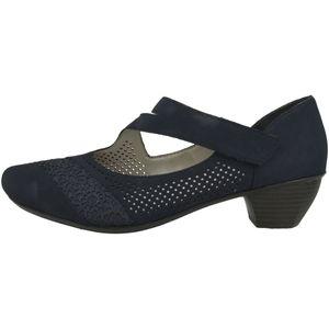 rieker Damen klassische Pumps Blau Schuhe, Größe:37