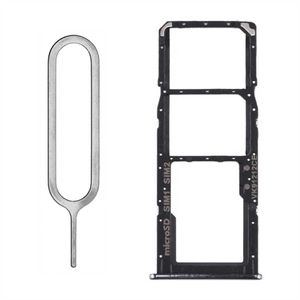 Samsung Galaxy A51 A515F Dual Sim/SD Karten Halter Tray Holder Slot Schlitten Einschub Fach Schublade Schwarz