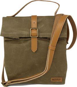 KeMar Kitchenware Lunchbox Tasche aus Canvas Segeltuch   Sahara Braun   Wasserdicht   Vegan   Recycelt   Nachhaltig