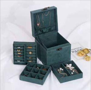 Meco Schichten Samt Schmuckkasten Schmuckkoffer Jewelry Storage Schmuck Organizer Box Schubladen Vitrinenhalter