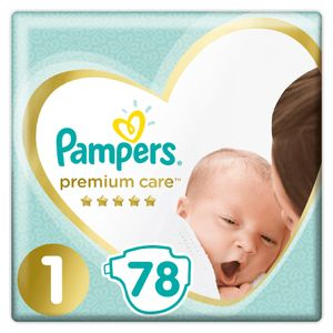 Pampers Premium Care, Größe 1 Newborn, 78 Windeln