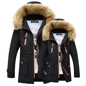 Paar Männer Frauen Frühling Winter Warme Kapuzenjacke Mantel Damen Casual Winddicht Verdicken Lange Parka Jacke Mantel Outwear Tops,Farbe: Schwarz,Größe:XL