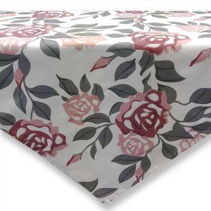 Tischdecke 80x80 cm aus Baumwolle bedruckt mit Blumenmuster Rosen Mitteldecke