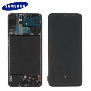 Original Samsung Galaxy A70 2019 A705 A705F GH82-19747A LCD Display Touch Screen Bildschirm (Service Pack)