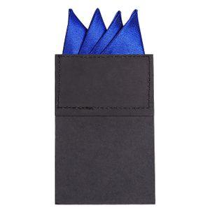 DonDon Herren Einstecktuch vorgefaltet für den perfekten Sitz - Blau