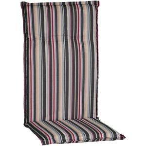 Gartenstuhl-Auflage Barcelona – Hochlehnerauflage für Gartenstühle, Dessin:Narrow Stripes, Anzahl:1x