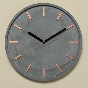 Boltze Wanduhr grau, Beton Uhr, Ø ca.28cm
