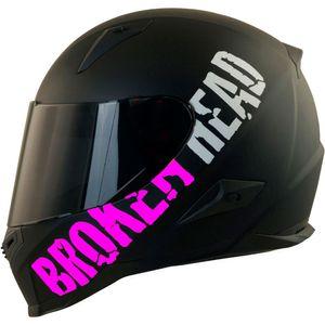 Motorradhelm Broken Head BeProud Pink Set Motorradhelm incl. schwarzem Visier Größe: XS (53-54 cm)