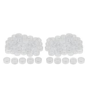 100 Stück Döschen 3ml Cremedose, Leer Tiegel Kosmetikdose mit Schraubverschluss für Kosmetik Nailart Perlen Lippenbalsam