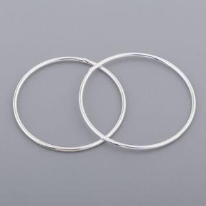 925 Sterling Silber Kreis Hoop 25mm 2 Stück