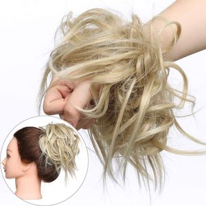 S-noilite Haar Extensions Haarverlängerung Haarteil Dutt Haargummi Hochsteckfrisuren wie Echthaar Aschblond/Bleichblond
