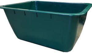 Mörtelwanne Kunststoff 200 Liter grün Fehlfarbe mit Stahl-Verstärkung