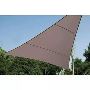 Perel Sonnensegel Dreieck 3,6 m Taupe GSS3360TA