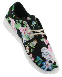 Etnies - Scout W'S BLACK FLORAL Damen Women Fitness Blumen Hallen Schuhe Sneaker Neu