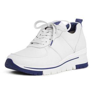 Tamaris Damen Sneaker Pure Relax 23745 Leder White Royal (weiß), Größe:40