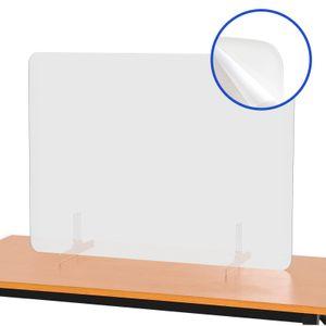 Thekenaufsatz Schutzscheibe Spuckschutz Schutzwand  Trennwand 80 * 60 cm
